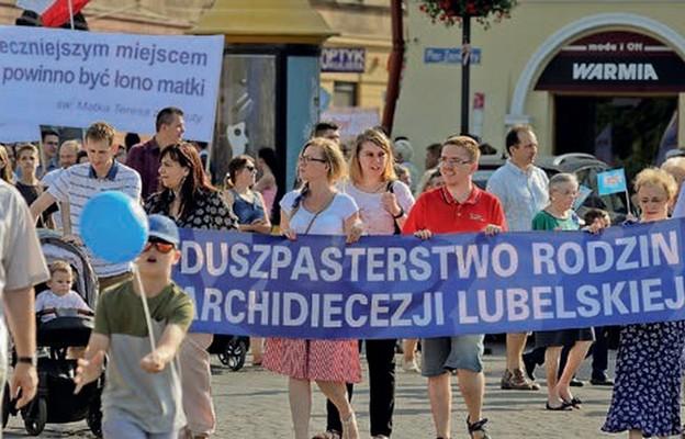 Duszpasterstwo rodzin włącza się w Marsz dla Życia i Rodziny, który w Lublinie jest organizowany od 2003 r.