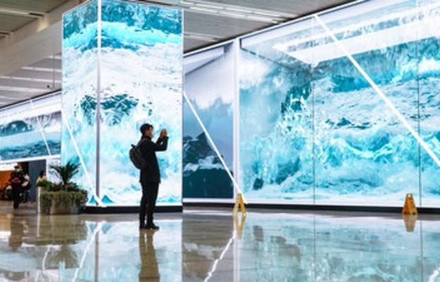 Instalacja ekranu LED o powierzchni 1.800 m2 w Szanghaju