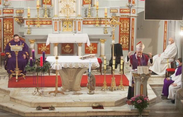 Bp Piotr Greger głosił kazania odpustowe w Pierśćcu.
