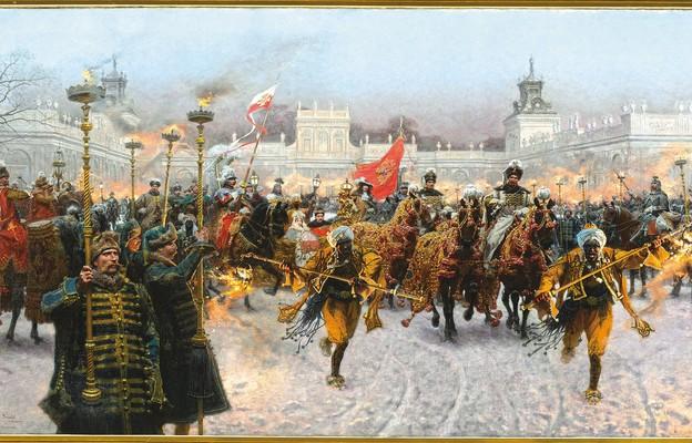 Józef Brandt, Kulig Jana III Sobieskiego i Marysieńki (olej, 1897 r.)