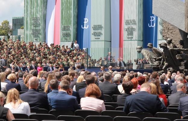 Prezydent Trump przywołał swoje słowa z placu Krasińskich: