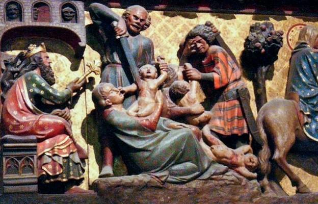 Rzeź niewiniątek, detal z ołtarza katedry Notre Dame w Paryżu