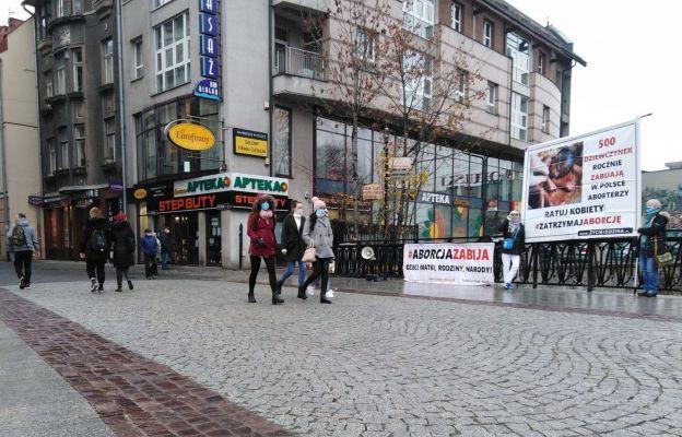 Podczas ostatniej pikiety w Bielsku-Białej.