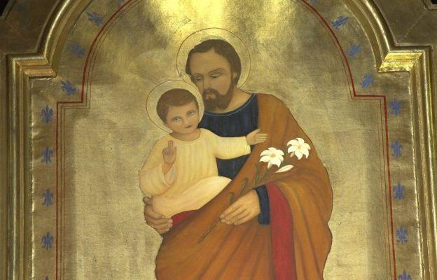 Obraz św. Józefa z Dzieciątkiem Jezus w częstochowskim sanktuarium
