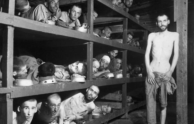 Przymusowi robotnicy w obozie Buchenwald