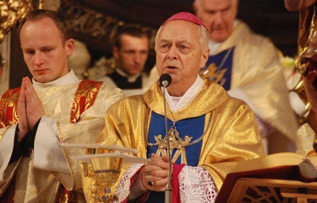 Bp Adam Dyczkowski w katedrze świdnickiej