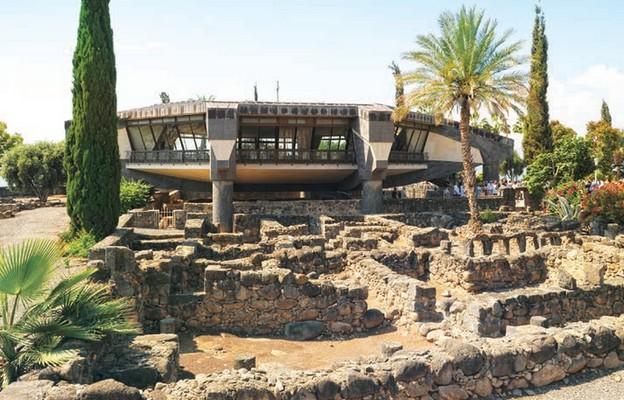 Kafarnaum. Kościół św. Piotra wzniesiony na miejscu, w którym prawdopodobnie stał dom apostoła