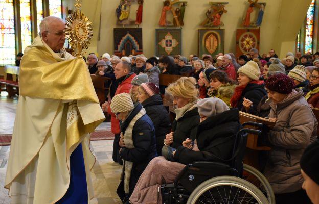 Obchody Światowego Dnia Chorego w kościele św. Wojciecha BM w Częstochowie, 11.02.2020