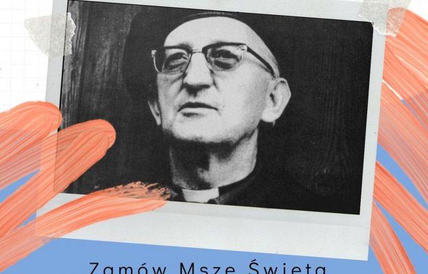 Fragment oazowego plakatu zachęcającego do zamawiania Mszy św.