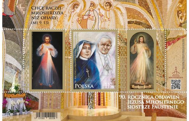 Poczta Polska wprowadziła znaczek upamiętniający objawienia s. Faustyny