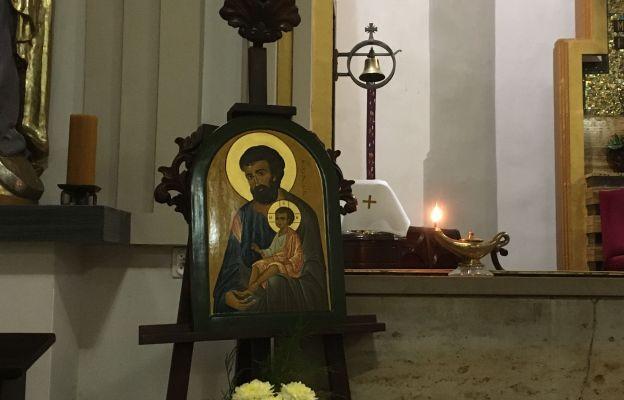 Ikona św. Józefa w parafii Świętej Rodziny we Wrocławiu
