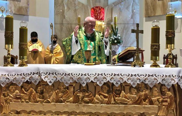 Msza św. dziękczynna w Malcu.