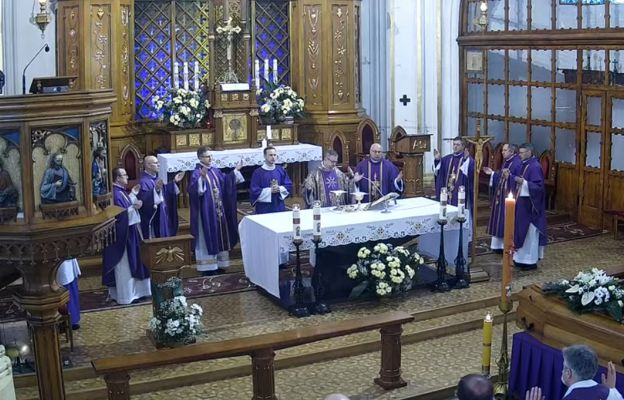 Liturgia pogrzebowa ks. Jacka Jurczyńskiego.