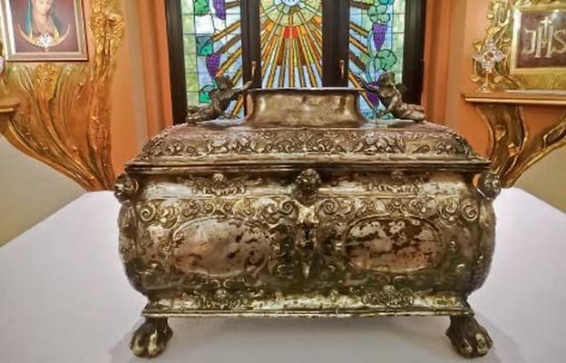 Srebrny relikwiarz św. Bonifacego Brunona z Kwerfurtu