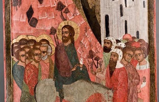 Wjazd do Jerozolimy, 1. poł. XVI wieku, deska, tempera