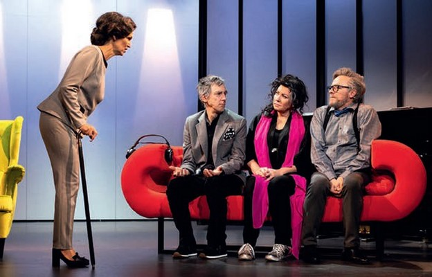 Scena ze spektaklu Kwartet w warszawskim teatrze Basen Artystyczny