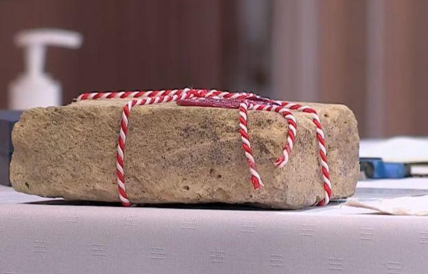 Wmurowany kamień węgielny z kościoła Stanisława w Rzymie