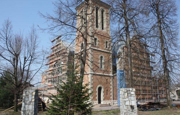 Kościół Matki Bożej Bolesnej w Czeladzi w czasie prac renowacyjnych
