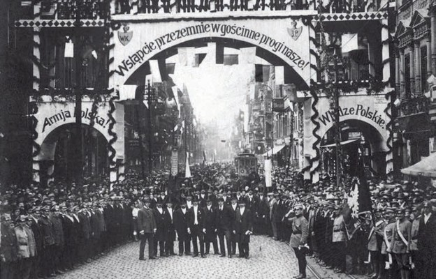 Powitanie wojsk polskich w Królewskiej Hucie (22 czerwca 1922 r.)