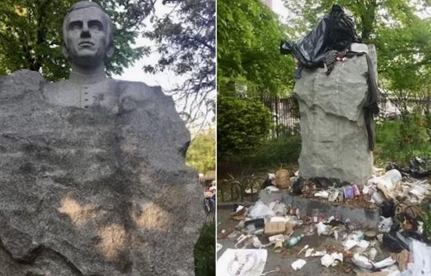 USA: Zdewastowano pomnik księdza Popiełuszki na Greenpoincie
