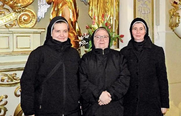 Od lewej: s. Joela Cisek, s. Grzegorza Bukita i s. Zachariasza KaIinowska