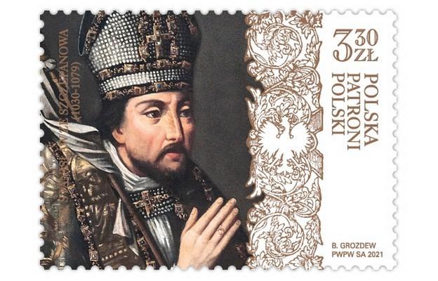 Patron Polski św. Stanisław na znaczku Poczty Polskiej - od 8 maja