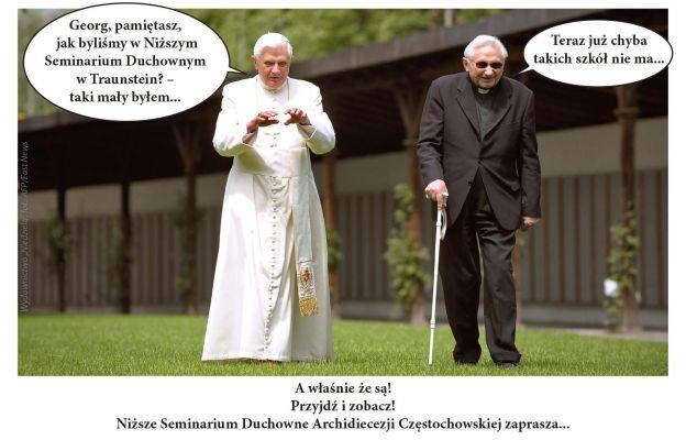 Grafika przesłana Benedyktowi XVI