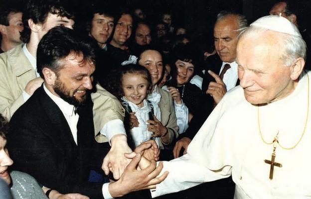 Spotkanie Jana Pawła II z wiernymi