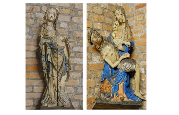 Od lewej: Madonna z Janowic, Pieta z Woli Mędrzechowskiej