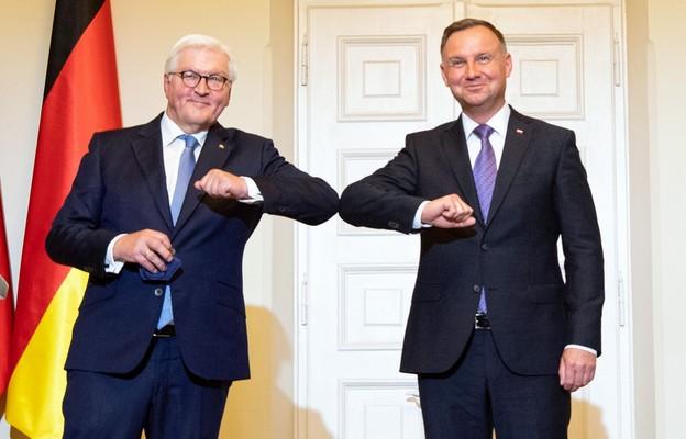 Prezydenci Polski i Niemiec Andrzej Duda i Frank-Walter Steinmeier