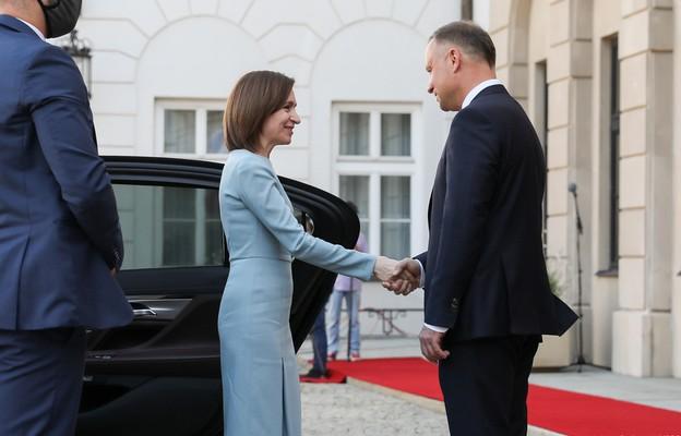 Spotkanie prezydenta RP z prezydent Mołdawii