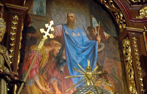 Obraz patrona parafii w ołtarzu głównym