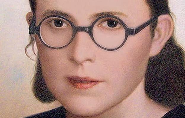Stefania Łącka, obraz namalowany ze zdjęcia wykonanego po powrocie z obozu