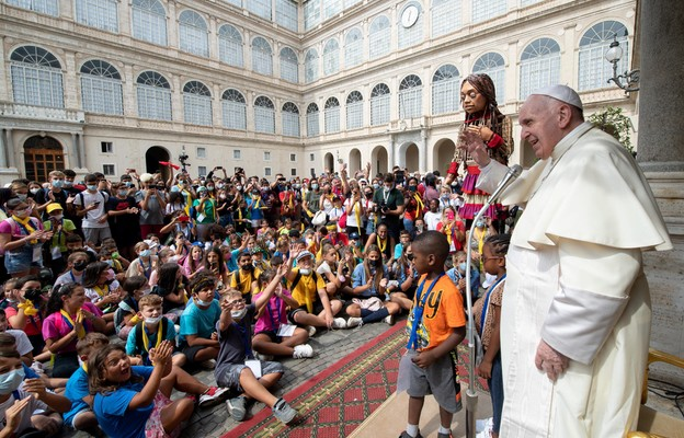 Spotkanie papieża z dziećmi w Watykanie