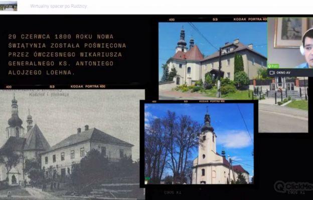 Historyk opowiada o kościele w Rudzicy.