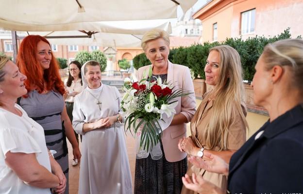 Pierwsza Dama RP odwiedziła Katolicką Polską Szkołę Podstawową w Rzymie