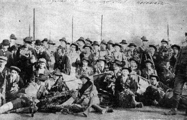 Drużyna Sokoła w Dziedzicach, która w 1914 roku wstąpiła do Legionu Śląskiego