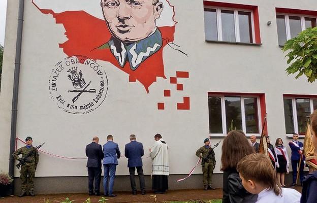 Odsłonięcie muralu gen. Stanisława Dąbka